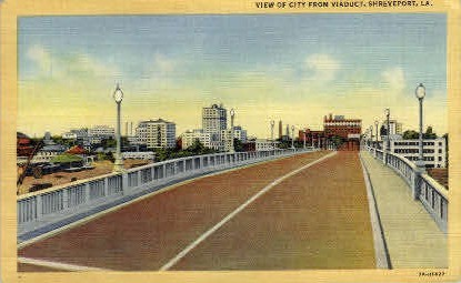 Viaduct - Shreveport, Louisiana LA Postcard