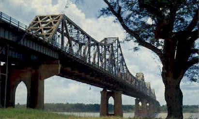 Mississippi River Bridge - Baton Rouge, Louisiana LA Postcard