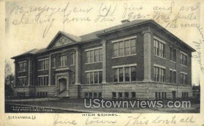 Alexandria high school - Louisiana LA Postcard
