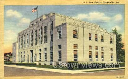 US post office - Alexandria, Louisiana LA Postcard