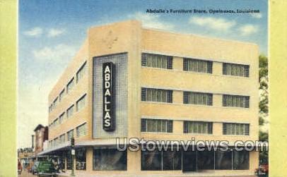 Abdallas furniture store - Opelousas, Louisiana LA Postcard
