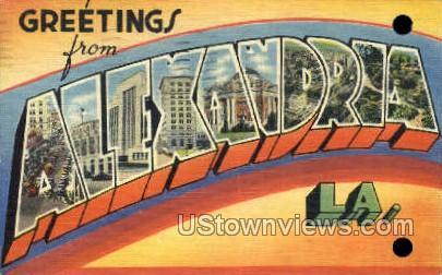 Greetings  - Alexandria, Louisiana LA Postcard