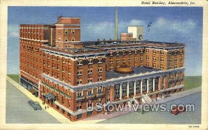 Hotel Bentley - Alexandria, Louisiana LA Postcard