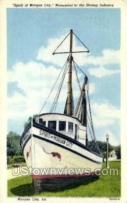 Spirit of Morgan city monument - Louisiana LA Postcard