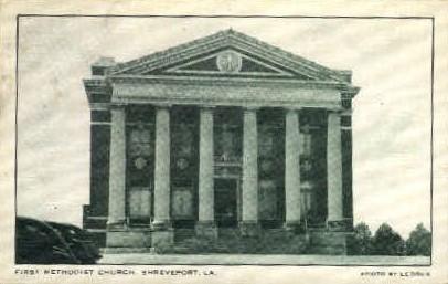 First Methodist Church - Shreveport, Louisiana LA Postcard