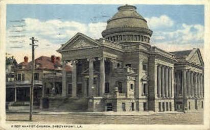 First Baptist Church - Shreveport, Louisiana LA Postcard
