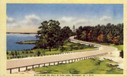 Cross Lake  - Shreveport, Louisiana LA Postcard