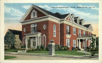 Womans Department Club  - Shreveport, Louisiana LA Postcard