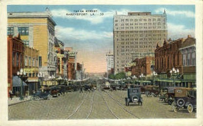 Texas Street - Shreveport, Louisiana LA Postcard