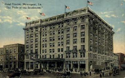 Youree Hotel - Shreveport, Louisiana LA Postcard