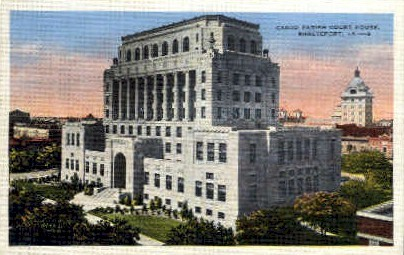Caddo Parish Court House   - Shreveport, Louisiana LA Postcard