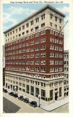 City Savings Bank & Co.  - Shreveport, Louisiana LA Postcard