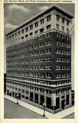 City Savings Bank & Trust Co.  - Shreveport, Louisiana LA Postcard