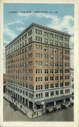 Gidden's Lane Building  - Shreveport, Louisiana LA Postcard