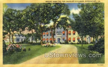 Shrine hospital - Shreveport, Louisiana LA Postcard