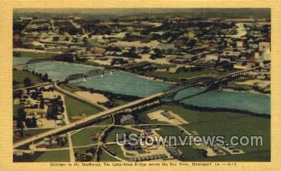 The long Allen bridge - Shreveport, Louisiana LA Postcard