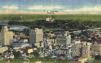US veterans hospital - Shreveport, Louisiana LA Postcard