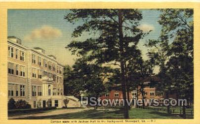 Jackson hall background - Shreveport, Louisiana LA Postcard