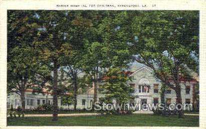 Shrine hospita - Shreveport, Louisiana LA Postcard