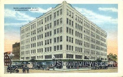 Ricou Brewster building - Shreveport, Louisiana LA Postcard