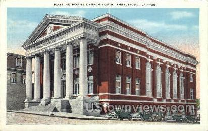 First Methodist church south - Shreveport, Louisiana LA Postcard