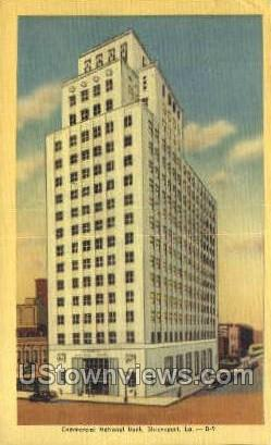 Commercial national bank - Shreveport, Louisiana LA Postcard