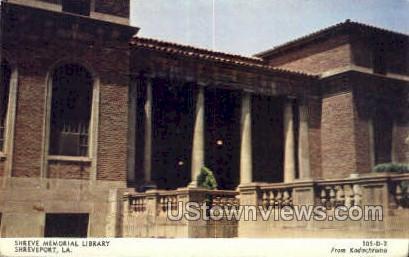 Shreve memorial library - Shreveport, Louisiana LA Postcard