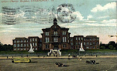 Charity Hospital  - Shreveport, Louisiana LA Postcard