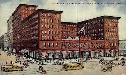 The New St. Charles Hotel & Annex - New Orleans, Louisiana LA Postcard