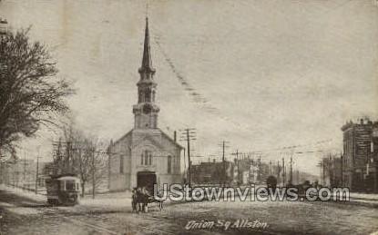 Union Square - Allston, Massachusetts MA Postcard