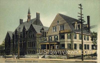 Washington School - Allston, Massachusetts MA Postcard
