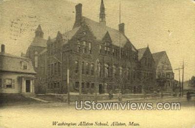 Washington Allston School - Massachusetts MA Postcard