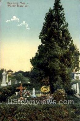 Whittier Burial Lot - Amesbury, Massachusetts MA Postcard