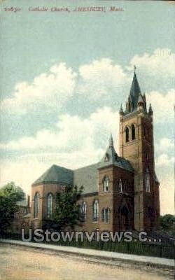 Catholic Church - Amesbury, Massachusetts MA Postcard
