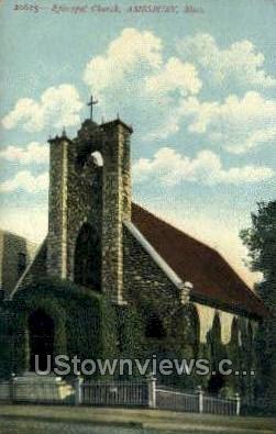 Episcopal Church - Amesbury, Massachusetts MA Postcard