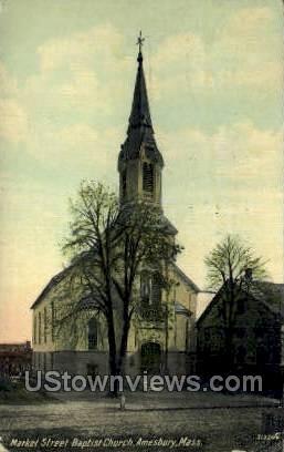 Market St. Baptist Church - Amesbury, Massachusetts MA Postcard