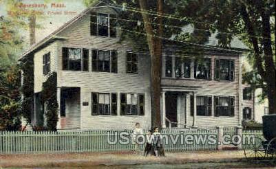 Whittier Home - Amesbury, Massachusetts MA Postcard