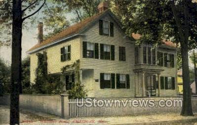 Whitters Home - Amesbury, Massachusetts MA Postcard