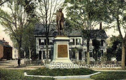 Statue of Josiah Bartlett - Amesbury, Massachusetts MA Postcard