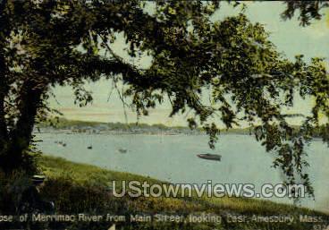 Merrimac River - Amesbury, Massachusetts MA Postcard