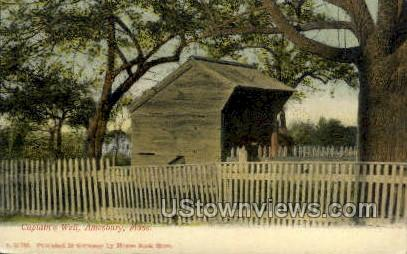 Captain's Well - Amesbury, Massachusetts MA Postcard