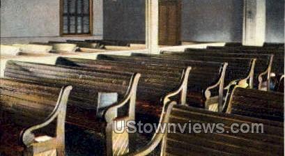 Interior, Friends Meeting House - Amesbury, Massachusetts MA Postcard