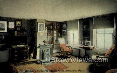 The Garden Room, Whittiers Home - Amesbury, Massachusetts MA Postcard