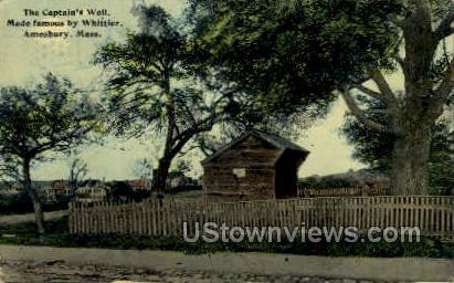 The Captain's Well - Amesbury, Massachusetts MA Postcard