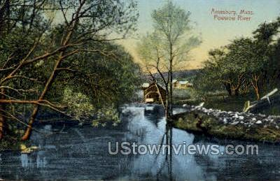 Powwow River - Amesbury, Massachusetts MA Postcard