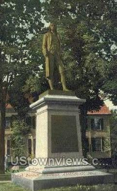 Josiah Bartlett Monument - Amesbury, Massachusetts MA Postcard