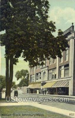 Wilman Block - Amesbury, Massachusetts MA Postcard