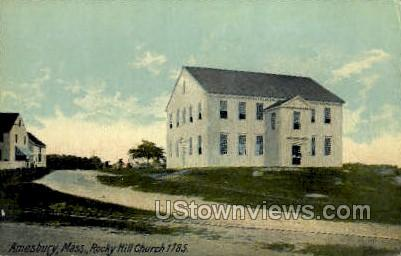 Rocky Hill Church - Amesbury, Massachusetts MA Postcard
