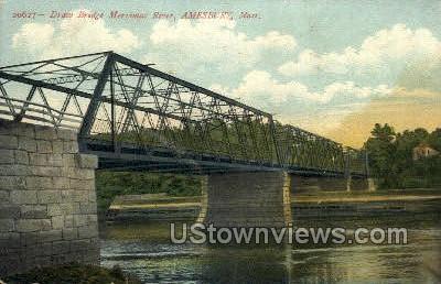 Draw Bridge - Amesbury, Massachusetts MA Postcard