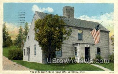 The Macy-Colby House - Amesbury, Massachusetts MA Postcard